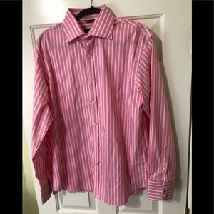Roar designer exclusive pink dress shirt L